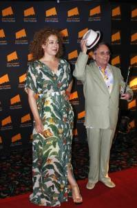 ALex Kingston and Sylvester McCoy