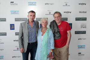 """""""Philomena"""" attends 'Movie Star Lounge' Day 3 during The 70th Venice Film Festival at the Villa Laguna on August 31, 2013 in Venice, Italy. (Photo by Annalisa Flori/Getty Images) *** Local Caption *** Steve Coogan, Judi Dench, Stephen Frears"""