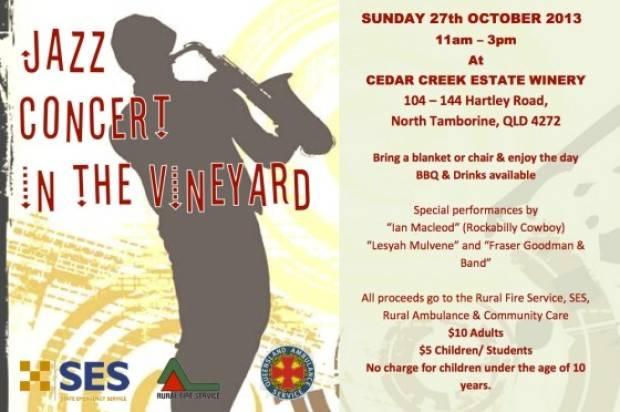 Cedar Creek Estate Winery  Sunday 27th October Jazz Concert