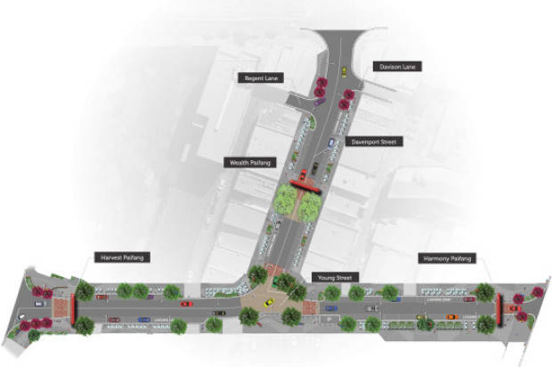 China Town Gold Coast Streetscape Plan