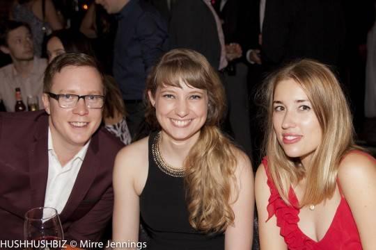 Tyson Cobb, Elise Appleton and Meg Bauer