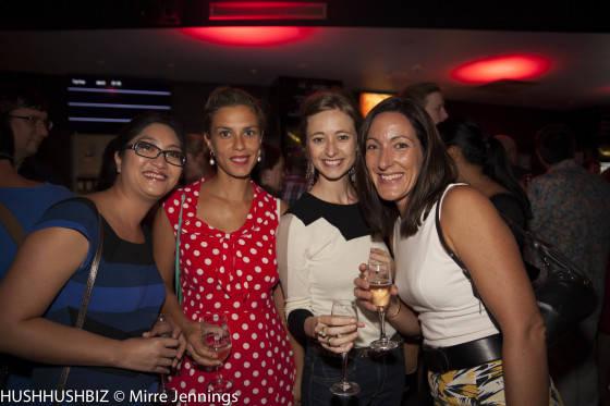 Natalie Syk, Amaelle De Beaussier-Ackerie, Charlotte Johnson and Elodie Elias (Brisbane ACCUEII)