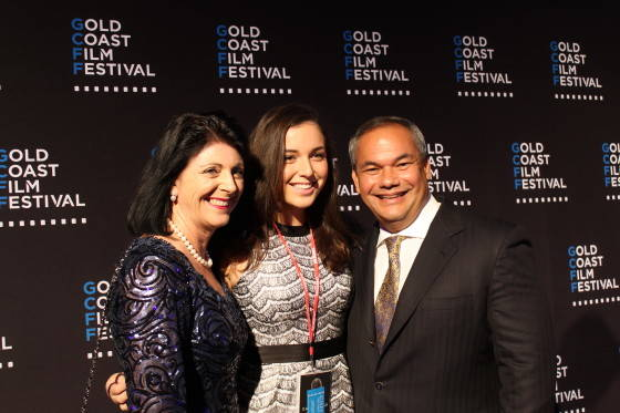 Tom Tate with wife Ruth and daughter