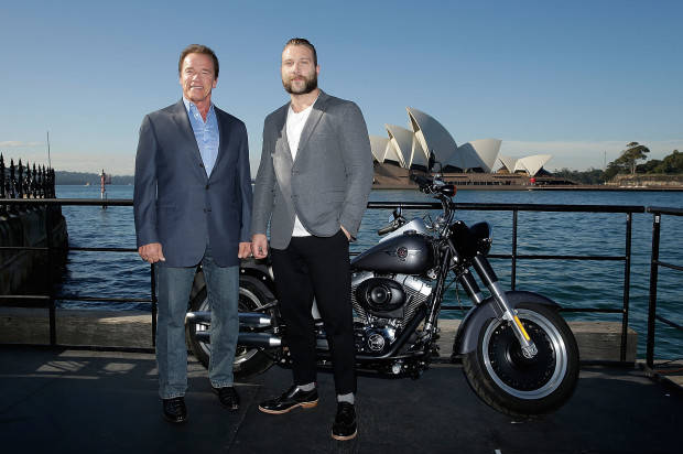 'TERMINATOR: GENISYS' STARS ARNOLD SCHWARZENEGGER AND JAI COURTNEY AT SYDNEY PHOTOCALL