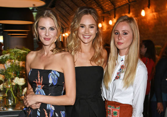 (L to R) Donna Air, Suki Waterhouse and Diana Vickers attend the Amazon Fashion Photography Studio launch party.