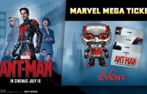 GRAB YOUR EXCLUSIVE ANT-MAN 'MEGA TICKET' AT EVENT CINEMAS!
