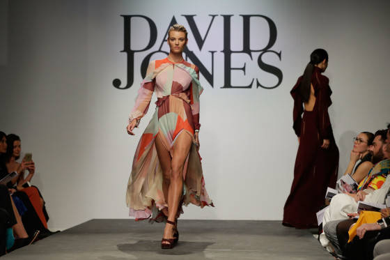 SYDNEY, AUSTRALIA - AUGUST 05:  Montana Cox showcases designs by Zimmermann on the runway at the David Jones Spring/Summer 2015 Fashion Launch at David Jones Elizabeth Street Store on August 5, 2015 in Sydney, Australia.  (Photo by Mark Metcalfe/Getty Images for David Jones) *** Local Caption *** Montana Cox