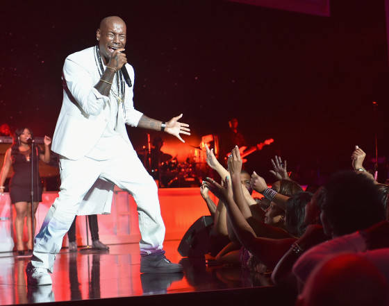 Tyrese  performs at the 2015 Ford Neighborhood Awards Hosted By Steve Harvey at Phillips Arena on August 8, 2015 in Atlanta, Georgia.