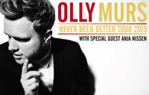 OLLY MURS NATIONAL 'NEVER BEEN BETTER' TOUR STARTS TOMORROW IN PERTH!