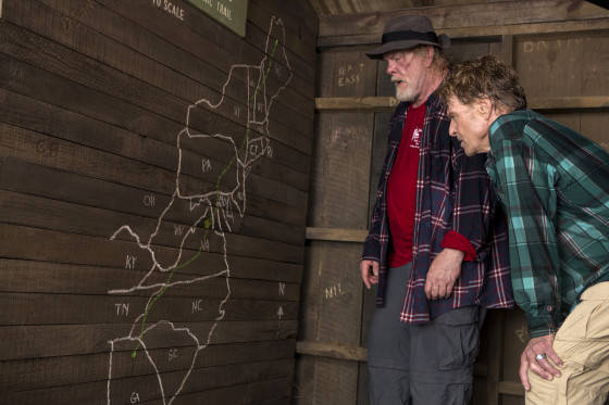 Nick Nolte stars as Stephen Katz and Robert Redford as Bill Bryson in Broad Green Pictures upcoming release, A WALK IN THE WOODS.