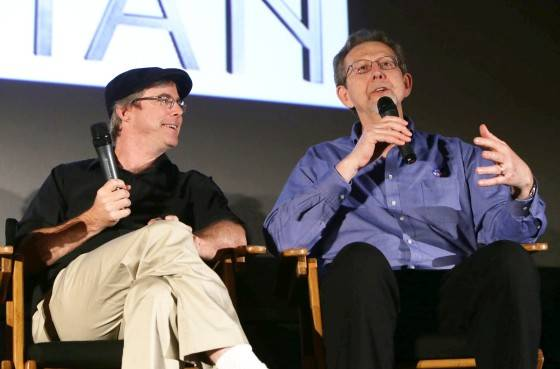 Andy Weir and Dr. Jim Green at the Twentieth Century Fox 'The Martian' Trailer Launch Event at United Artists La Canada Theater on Tuesday, August 18, 2015, in La Canada Flintridge, CA.