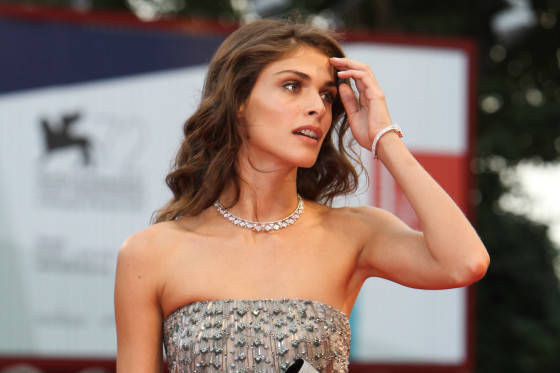 Elisa Sednaoui wearing a Jaeger-LeCoultre watch attends the premiere 'Everest'