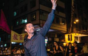 HUGH JACKMAN DANCES WITH DRAGONS IN HONG KONG