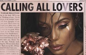 TAMAR BRAXTON RELEASES NEW ALBUM 'CALLING ALL LOVERS'