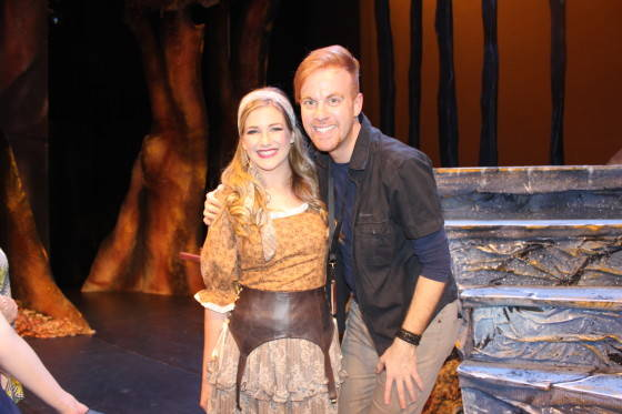 Georgina Hopson (Cinderella) and Tim O'Connor (Director)