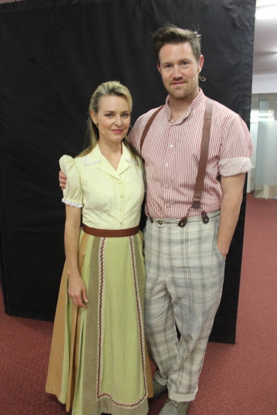 Rachael Beck (The Baker's Wife) and Eddie Perfect (The Baker)