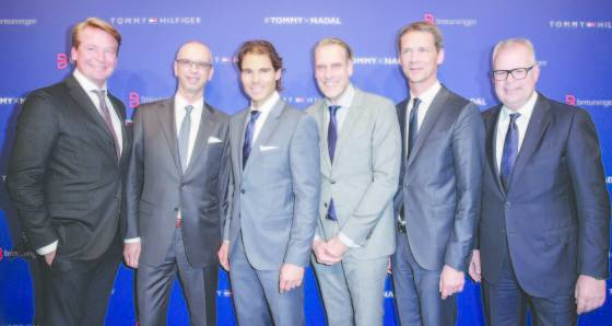 Christian Kohlhase, Ingo Wilts, Rafael Nadal, Joachim Aisenbrey, Holger Blecker and Uwe Hildebrand