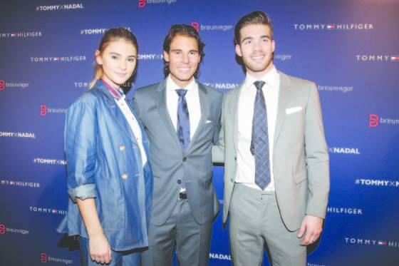 Stefanie Giesinger, Rafael Nadal and Janis Danner