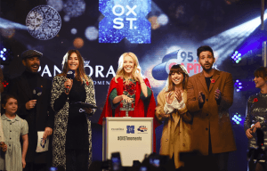 KYLIE MINOGUE SWITCHES ON OXFORD STREET CHRISTMAS LIGHTS