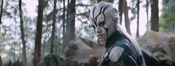 Sofia Boutella plays Jayla in Star Trek Beyond from Paramount Pictures, Skydance, Bad Robot, Sneaky Shark and Perfect Storm Entertainment