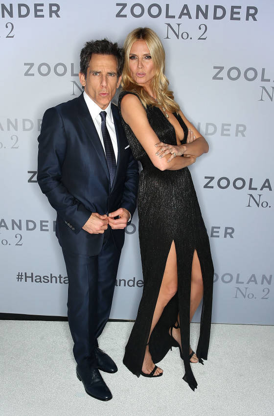 SYDNEY, AUSTRALIA - JANUARY 26:  Ben Stiller and Heidi Klum attend the Sydney Fan Screening Event of the Paramount Pictures film 'Zoolander No. 2' at the State Theatre on January 26, 2016 in Sydney, Australia.  (Photo by Brendon Thorne/Getty Images for Paramount Pictures) *** Local Caption *** Ben Stiller; Heidi Klum