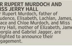 Rupert Murdoch Rings The Wedding Bells With Jerry Hall
