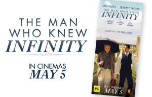 WIN PRIZE PACK OF DVD'S AND DOUBLE PASS TO THE MAN WHO KNEW INFINITY