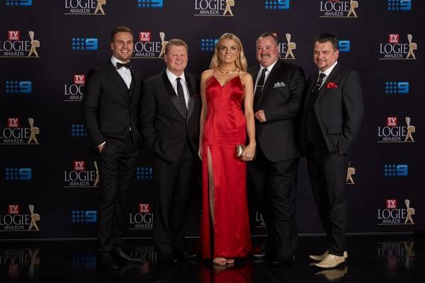 Beau Ryan, Fatty Vautin, Erin Molan, Darryl Brohman and EP Glenn Pallister (The NRL Footy Show)_