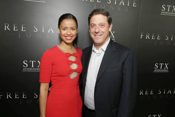 Gugu Mbatha-Raw and Adam Fogelson, Chairman, Motion Picture Group at STX Entertainment