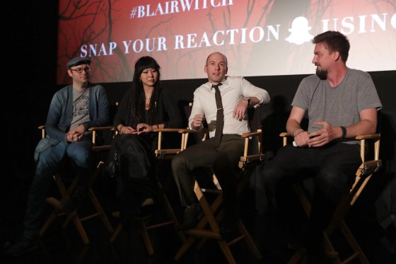 Producer Keith Calder, Producer Jessica Wu, Writer Simon Barrett and Director Adam Wingard