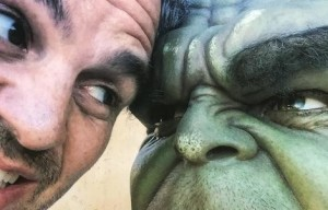 SUPERHERO HULK MARK RUFFALO  LEAVES GOLD COAST