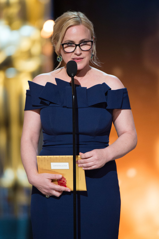 Patricia Arquette presents the Oscar® for Performance by an actor in a supporting role during the live ABC Telecast of The 88th Oscars® at the Dolby® Theatre in Hollywood, CA on Sunday, February 28, 2016.