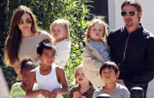 ANGELINA JOLIE & BRAD PITT HOLLYWOOD STARS  SPLIT