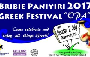 ITS ALL GREEK AT BRIBIE ISLAND FOR ONE OPA FESTIVAL