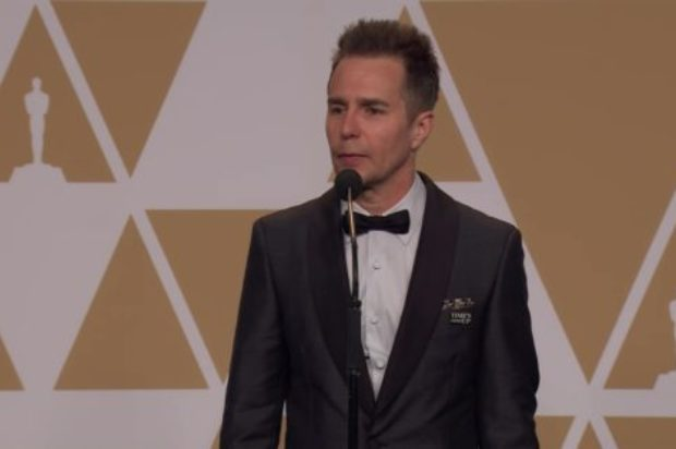 SAM ROCKWELL BACKSTAGE  PRESS OSCARS