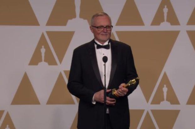 AUSTRALIAN EDITOR LEE SMITH  BACK STAGE ON HIS OSCAR WIN DUNKIRK