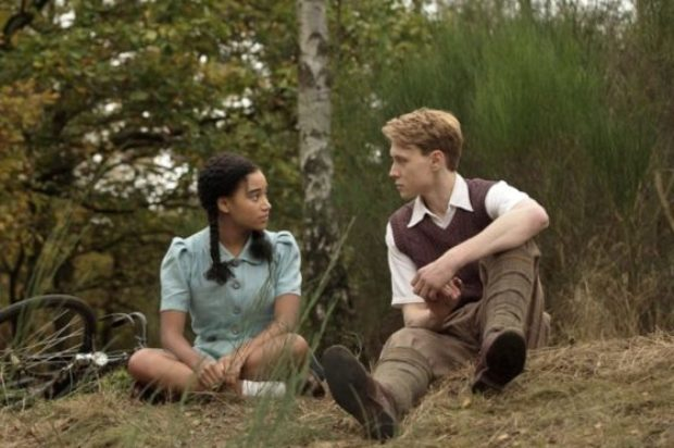 FILM REVIEW : 'WHERE HANDS TOUCH'