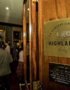 OPENING OF THE HIGHLANDER WHISKY BAR