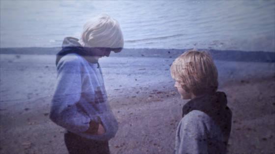 KC 2_TEEN KURT_Beach double shot_A thirteen-year-old Kurt Cobain wanders on a Washington beach in KURT COBAIN MONTAGE OF HECK