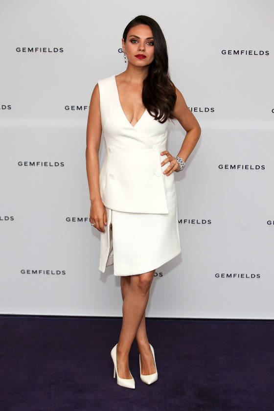 LONDON, ENGLAND - JUNE 23:  Actress and Gemfields brand ambassador, Mila Kunis, attends a photocall for the launch of Gemfields Mozambican rubies in London at Corinthia Hotel London on June 23, 2015 in London, England.  (Photo by David M. Benett/Getty Images for Gemfields) *** Local Caption *** Mila Kunis
