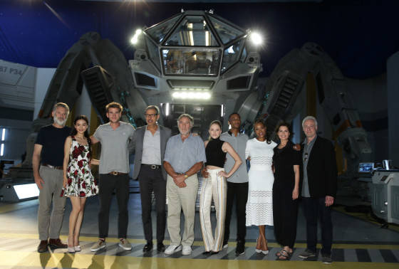 "EXCLUSIVE -  Cast of ""Independence Day Resurgence"" seen at the ""Independence Day Resurgence"" Global Production Event on Monday, June 22, 2015, in Albuquerque, New Mexico. (Photo by Eric Charbonneau/Invision for Twentieth Century Fox/AP Images)"