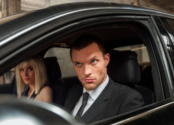 """M112  Ed Skrein (right.) and Loan Chabanol star in  EuropaCorp's  """"The Transporter Refueled""""."""