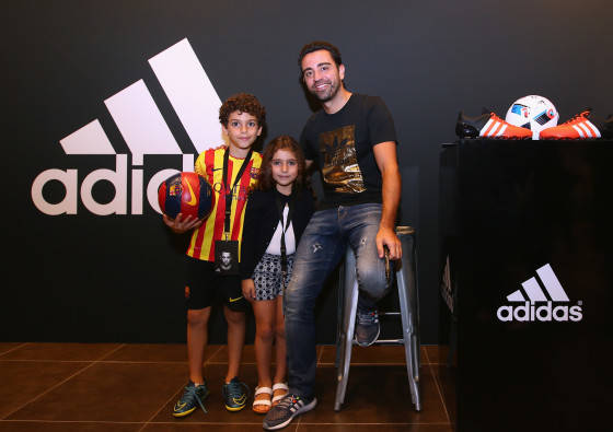 Xavi opens adidas zone in the new flagship Go-Sports Store in the Mall of Emirates Dubai