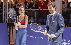 RAFAEL NADAL PLAYS POP-UP TENNIS TOURNAMENT FOR TOMMY HILFIGER