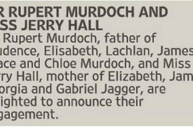 Rupert Murdoch Rings The Wedding Bells With Jerry Hall