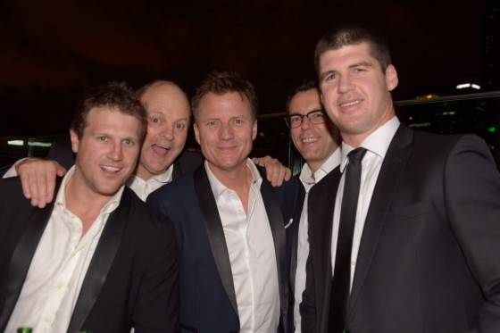 Campbell Brown, Billy Brownless, James Brayshaw, Damian Barrett and Jonathan Brown