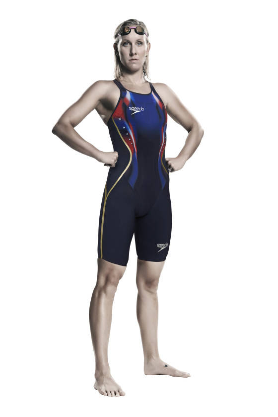 Jessica Hardy of the USA  is pictured wearing her new Speedo federation swim suit ahead of this year's summer of sport. Special edition swim suits will be worn by Speedo sponsored swimmers and swim teams from the USA, Australia, China, Spain, Japan, Canada and Israel in 2016.