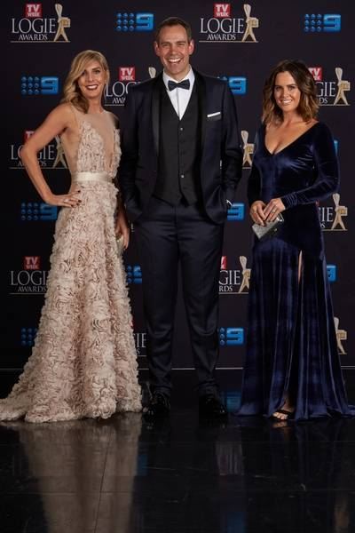 Jessica Braithwaite, Brenton Ragless and Kate Collins (Nine News Adelaide)_Logies 2016