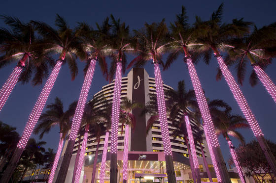 Technology meets art at the entrance to Jupiters Gold Coast