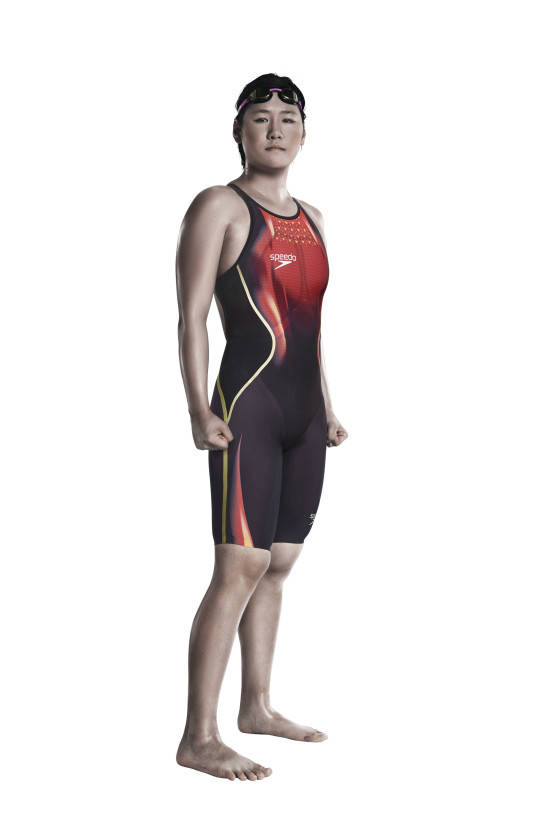 Ye Shiwen of China is pictured wearing her new Speedo federation swim suit ahead of this year's summer of sport. Special edition swim suits will be worn by Speedo sponsored swimmers and swim teams from the USA, Australia, China, Spain, Japan, Canada and Israel in 2016.
